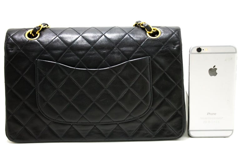 ff04ea23f55a ... Chain Shoulder Bag Lambskin Black In Good Condition For Sale. CHANEL  2.55 Double Flap 10