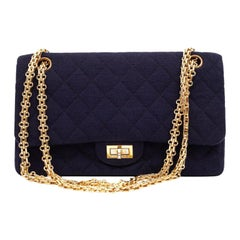 CHANEL 2.55 Jersey Medium Size Bag