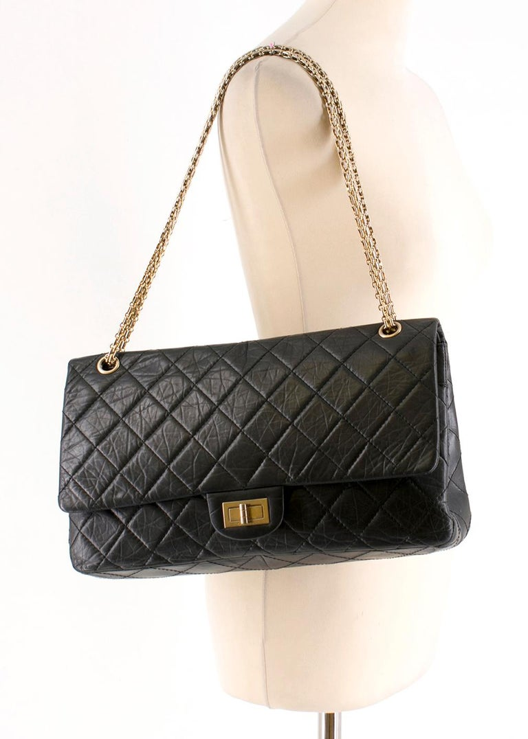 dc443a8d5794da Chanel 2.55 Jumbo Reissue double-flap quilted leather bag For Sale 4