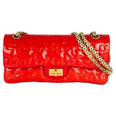 CHANEL 2:55 puzzle Shoulder bag in Red Patent leather