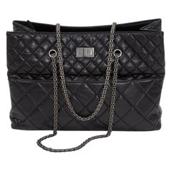 Chanel 2.55 Quilted Leather Grand Shopping Tote Bag