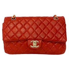 Chanel 2.55 Red Leather with Golden Hardware