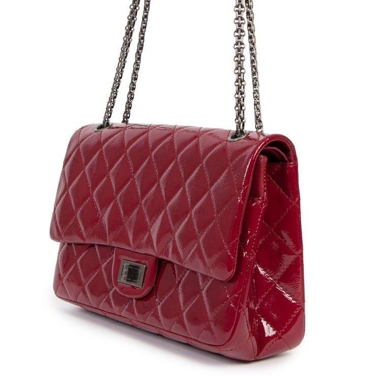 Red Chanel 2.55 Reissue 227 Cranberry Patent Leather Bag