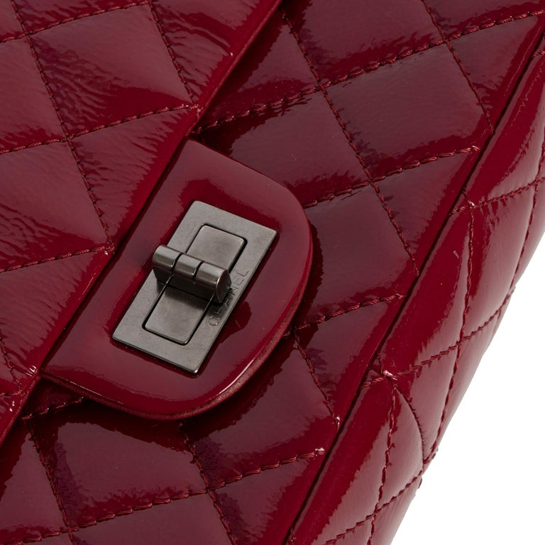 Women's Chanel 2.55 Reissue 227 Cranberry Patent Leather Bag