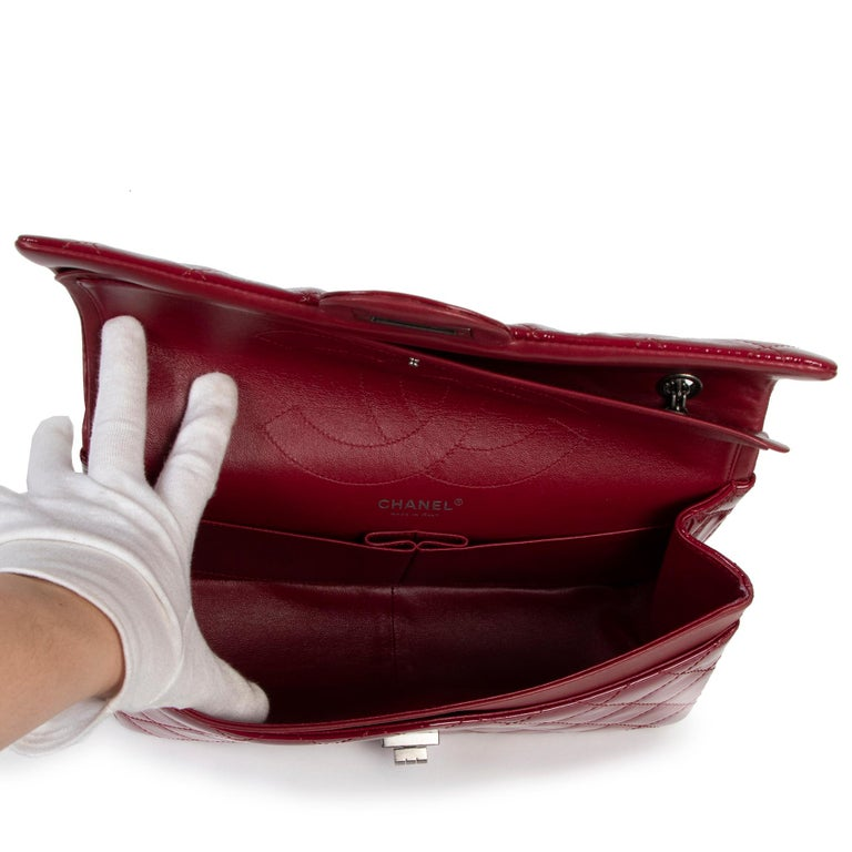 Chanel 2.55 Reissue 227 Cranberry Patent Leather Bag 1