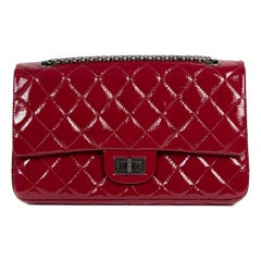 Chanel 2.55 Reissue 227 Cranberry Patent Leather Bag