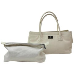 01e74e4e79e31a Chanel 2.55 Reissue Cerf Ivory Caviar Executive 869763 White Leather Tote