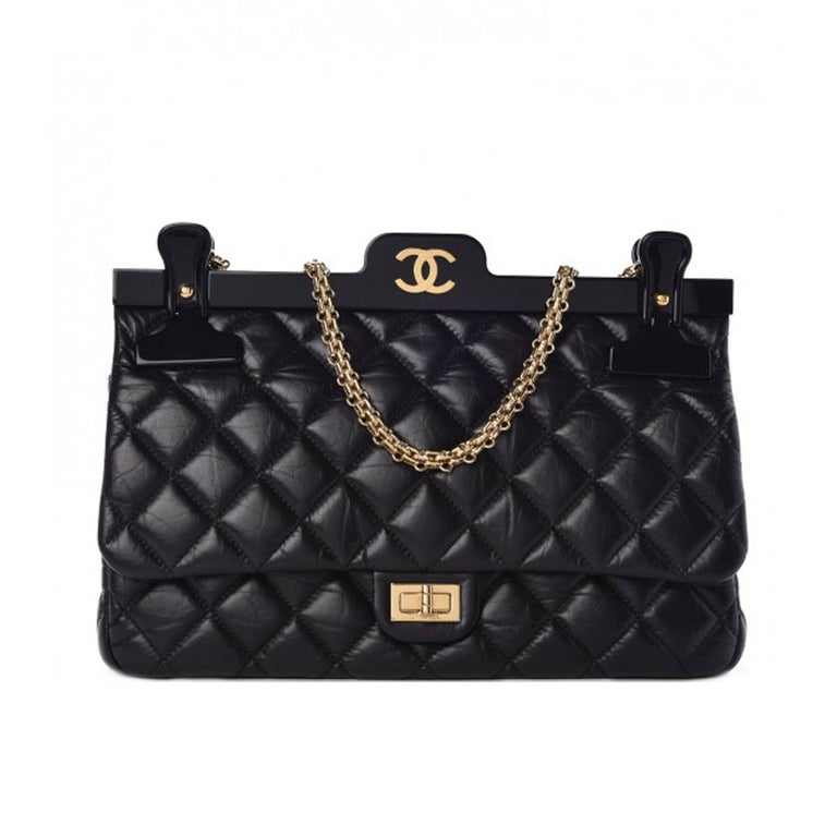 d00c8c60d05a60 Chanel Classic Flap Hanger Large Reissue Bag Limited Edition 2016 Gold tone  hardware Mademoiselle turn-