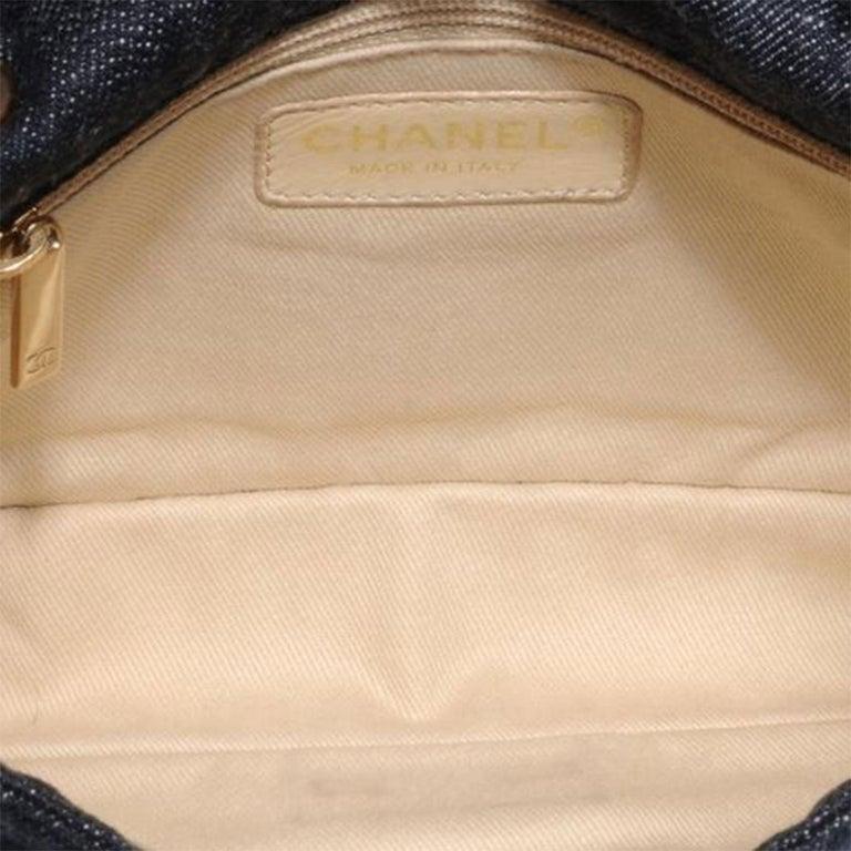 Chanel 2.55 Reissue Limited Edition Airplanes Flap Blue Denim Shoulder Bag For Sale 2