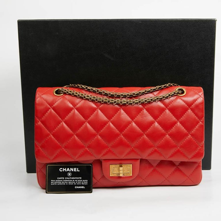 CHANEL 2.55 Smooth Copper Lambskin Bag For Sale 7