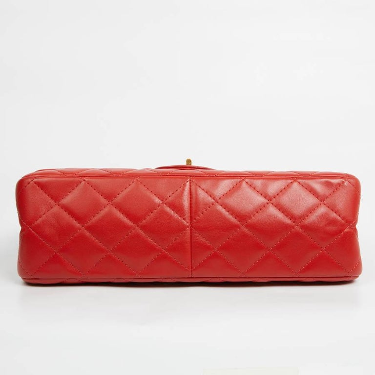 CHANEL 2.55 Smooth Copper Lambskin Bag In Excellent Condition For Sale In Paris, FR