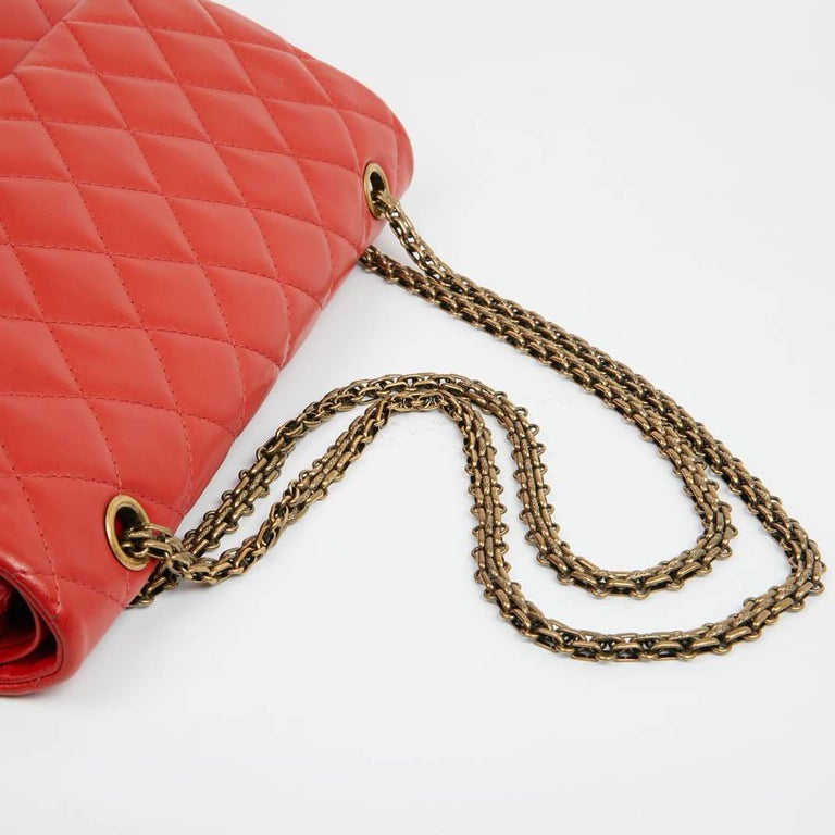 CHANEL 2.55 Smooth Copper Lambskin Bag For Sale 2