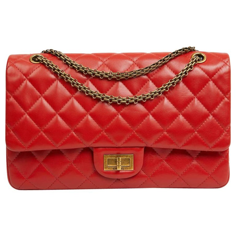 CHANEL 2.55 Smooth Copper Lambskin Bag For Sale