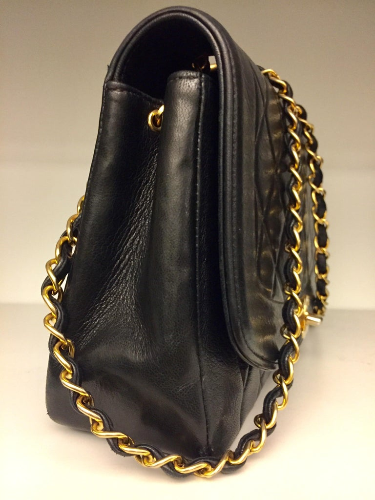 """- Chanel black lambskin quilted """"Diana"""