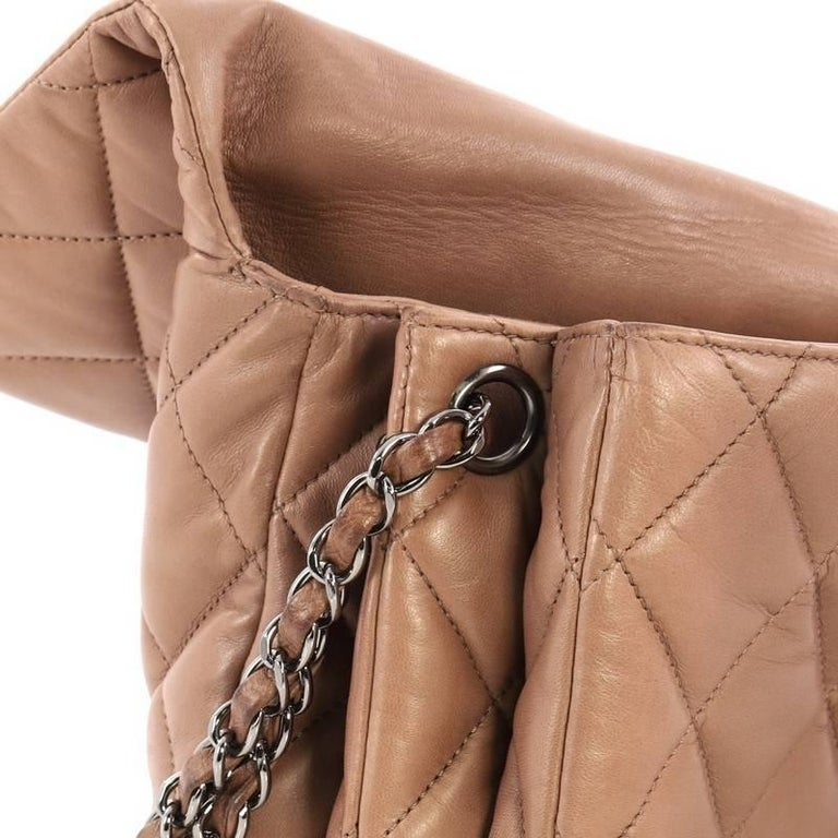 61cfcc2f5649 Chanel 3 Accordion Flap Bag Quilted Lambskin Jumbo at 1stdibs