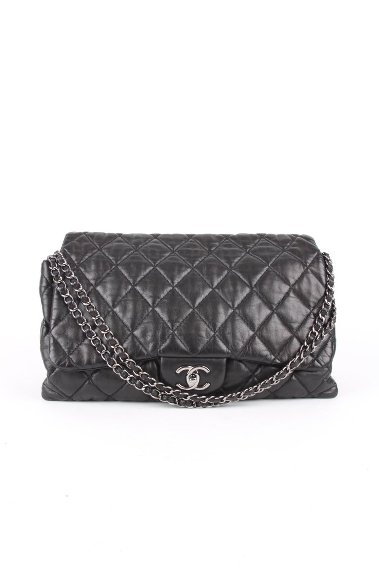 Chanel 3 Quilted Accordion Lambskin Maxi Flap Bag For Sale 5