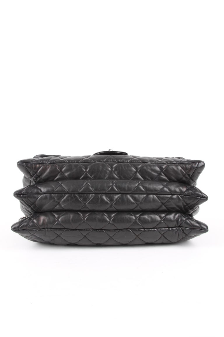 Chanel 3 Quilted Accordion Lambskin Maxi Flap Bag For Sale 2