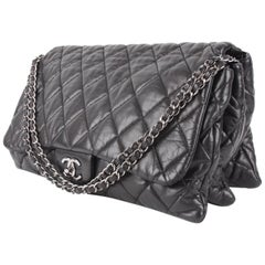Chanel 3 Quilted Accordion Lambskin Maxi Flap Bag