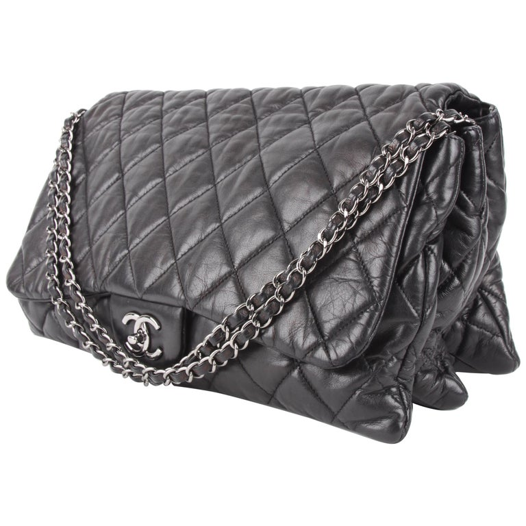 Chanel 3 Quilted Accordion Lambskin Maxi Flap Bag For Sale