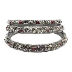 CHANEL 3 Silver Metal Bracelets