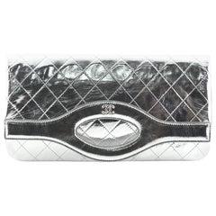 Chanel 31 Pouch Quilted Metallic Calfskin Medium