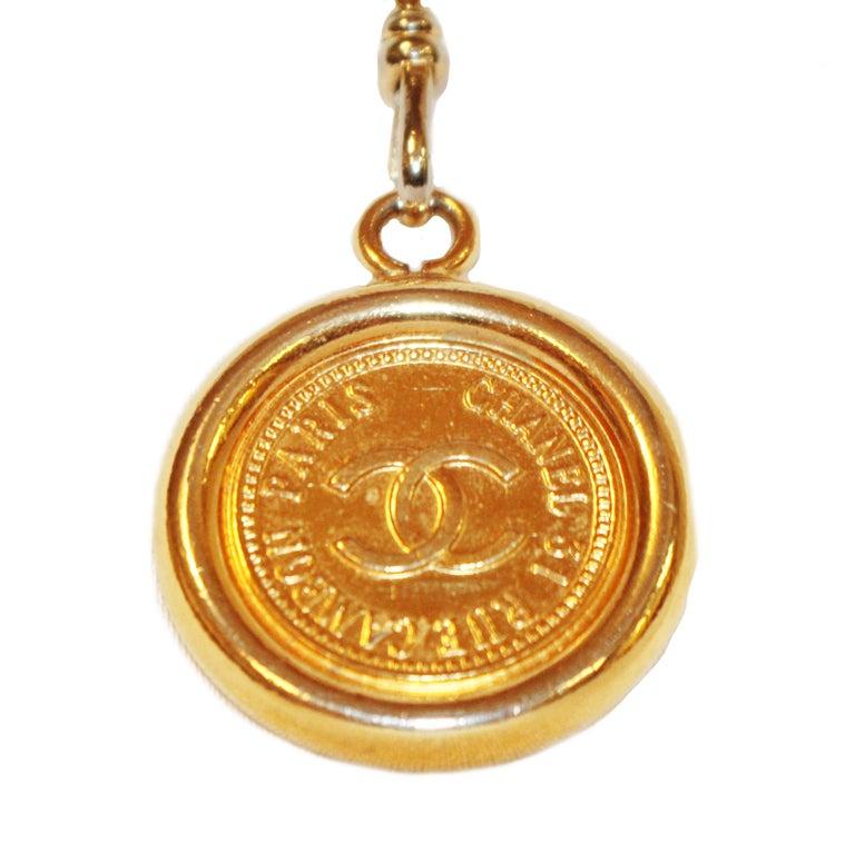 Chanel 31 Rue Cambon drei Münzen Kette Link Gürtel aus den 80er Jahren  5
