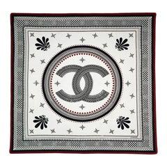 "Chanel 35"" Silk Blend Jersey CC Scarf"