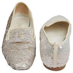 Chanel 36 Fr Flat Slip-ons Sequins Embroided