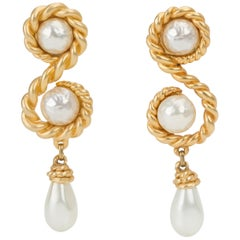Chanel 70s Collectible Runway Earrings