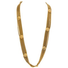 Chanel 80's Vintage Gold Chain Lions Head Necklace Belt