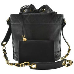 Chanel 90's Black Iconic Bucket Bag