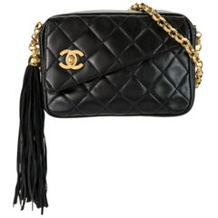 Chanel 90's Vintage Diamond Quilted CC Shoulder Bag