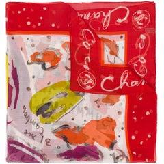 Chanel Abstract Polka-dot Print Scarf