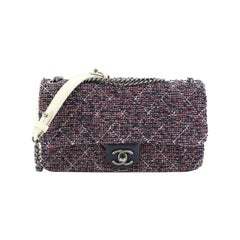 Chanel Aged Chain CC Flap Bag Quilted Tweed Medium