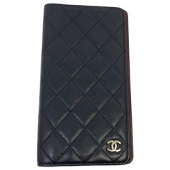 Chanel Agenda Cover In Black Quilted Leather And CC Logo