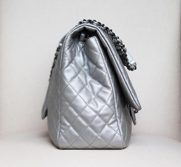 Women's Chanel Airline Large XXL Classic Flap Bag For Sale