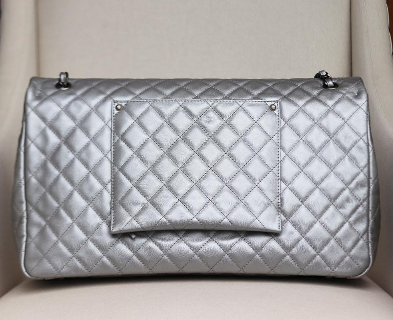 Chanel Airline Large XXL Classic Flap Bag For Sale 1