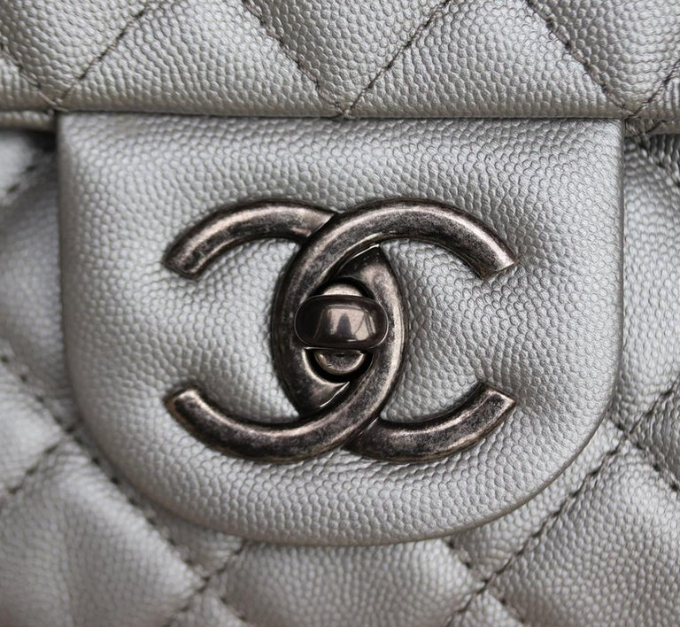 Chanel Airline Large XXL Classic Flap Bag For Sale 3