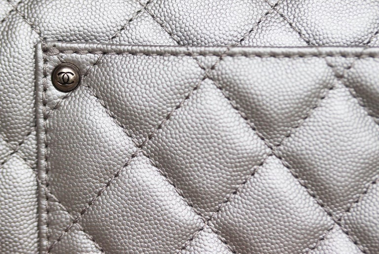Chanel Airline Large XXL Classic Flap Bag For Sale 4
