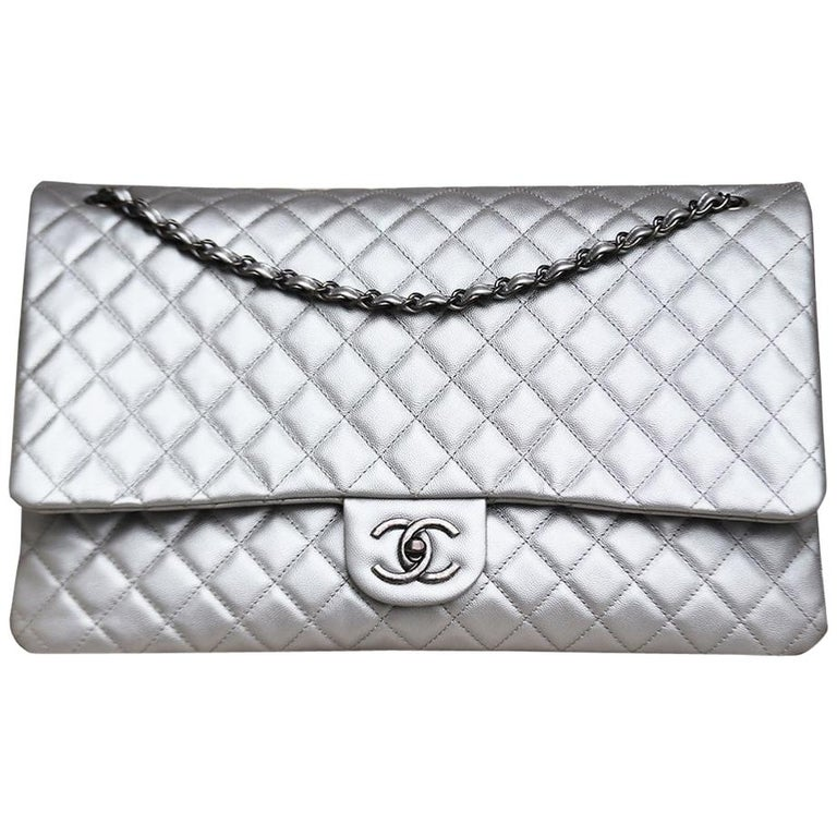 Chanel Airline Large XXL Classic Flap Bag For Sale