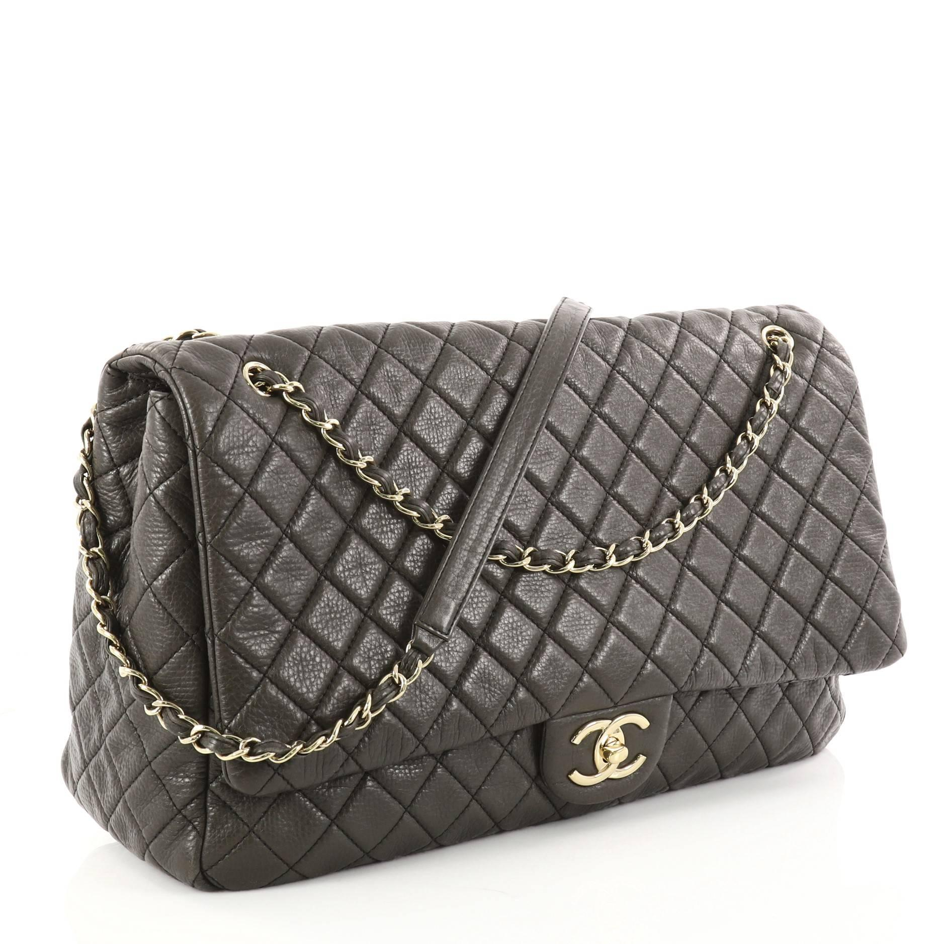 3d8b85437126 Chanel Airlines CC Quilted Calfskin XXL Flap Bag at 1stdibs