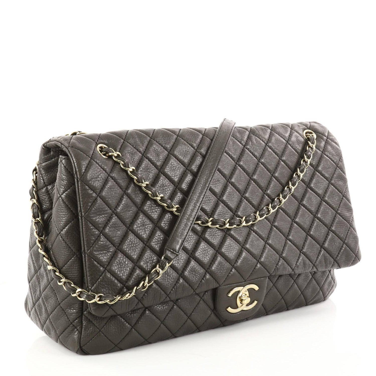 f5dbebfb3391 Chanel Airlines CC Quilted Calfskin XXL Flap Bag at 1stdibs