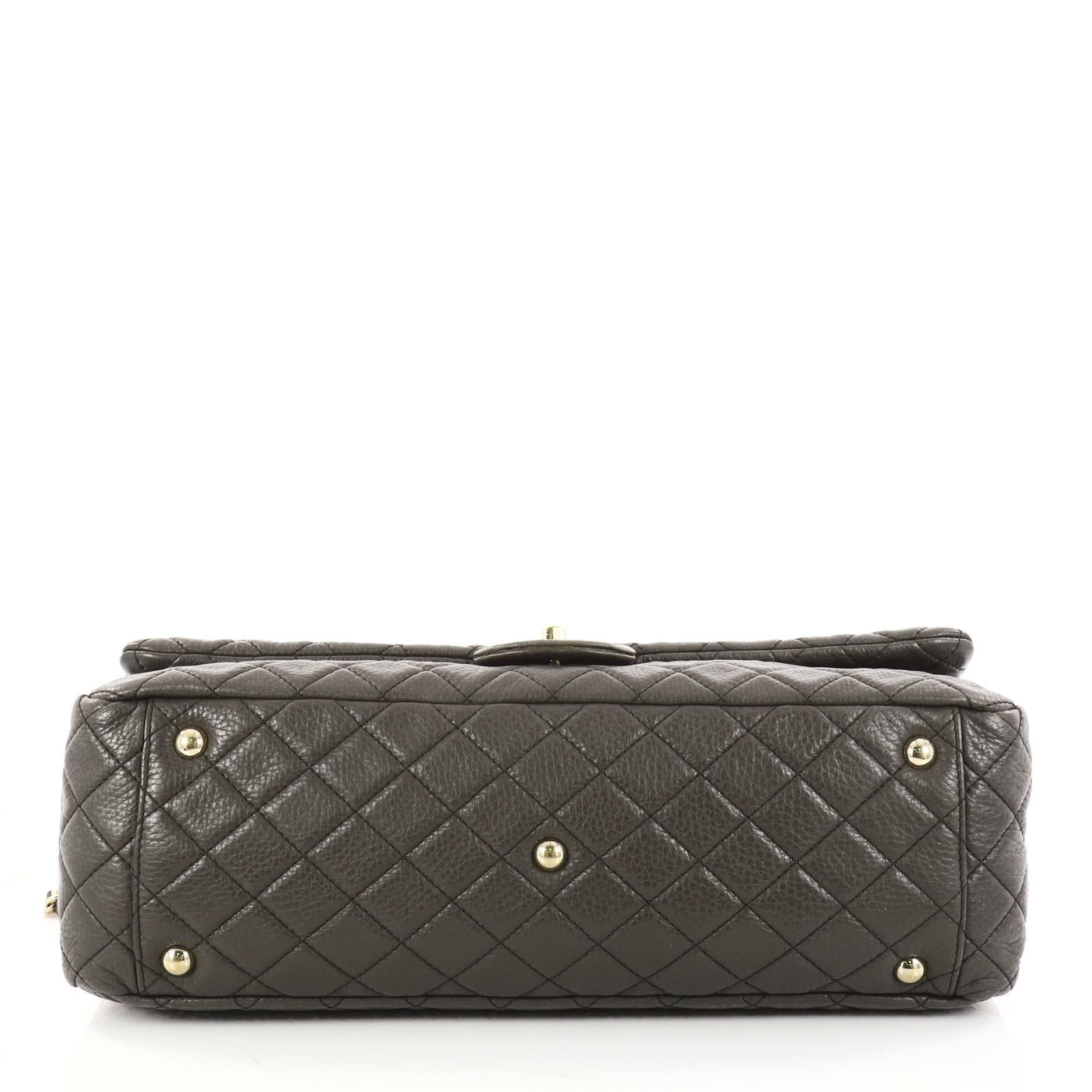7a3dd6943faa Chanel Airlines CC Quilted Calfskin XXL Flap Bag at 1stdibs