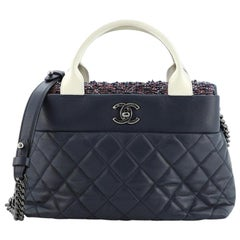 Chanel Airlines Portobello Tote Quilted Lambskin and Tweed Small