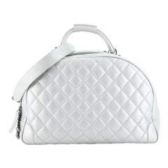 Chanel Airlines Round Trip Bowling Bag Quilted Calfskin Medium