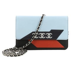 Chanel Airlines Wallet on Chain NM Lambskin Small