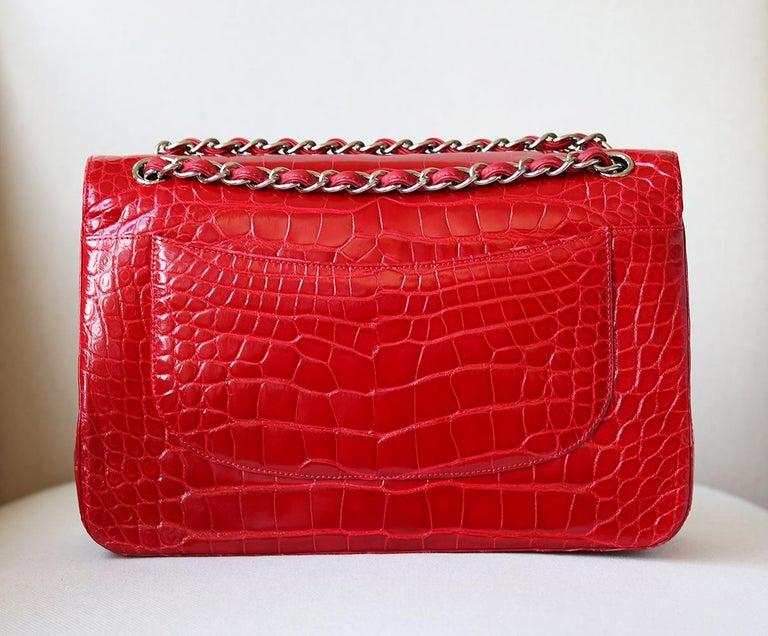 Women's Chanel Alligator Jumbo Classic Double Flap Bag