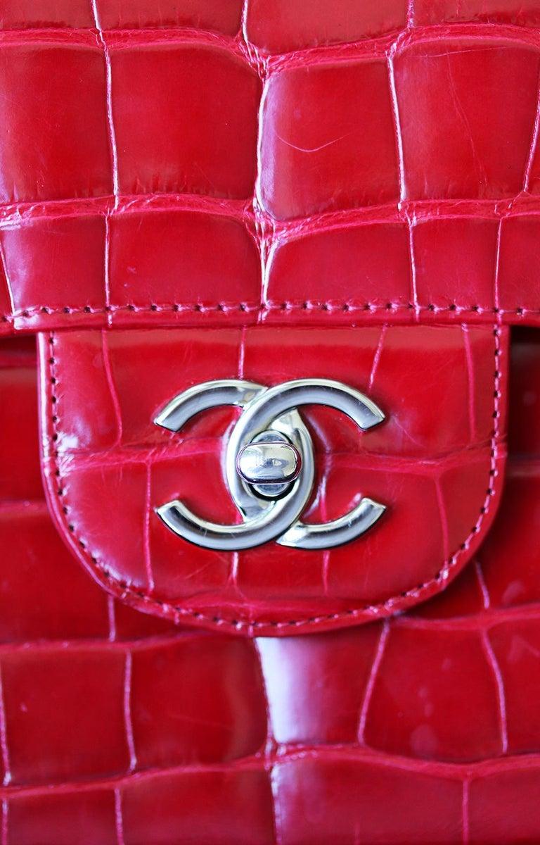 Chanel Alligator Jumbo Classic Double Flap Bag  1