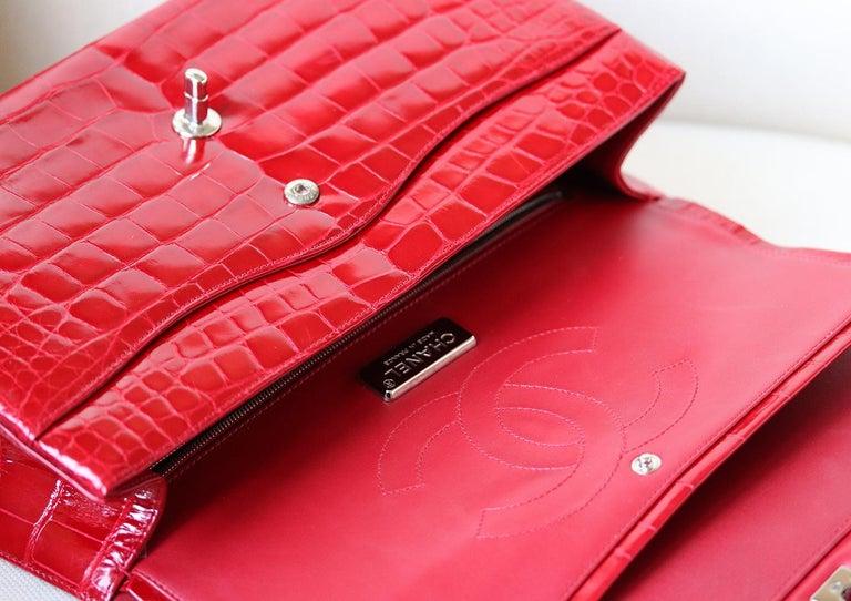 Chanel Alligator Jumbo Classic Double Flap Bag  2