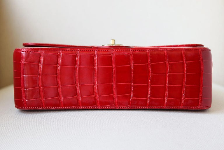 Chanel Alligator Jumbo Classic Double Flap Bag  3